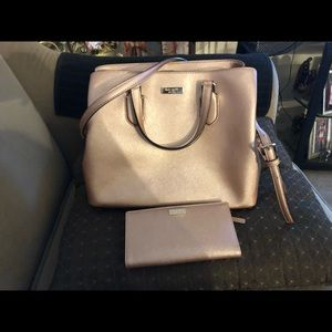 Kate spade purse with matching wallet Set